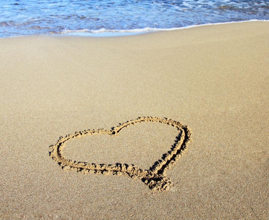 Heart in Sand - Beach Weddings in New Smyrna Beach, FL