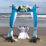 Sara Two Post Bamboo Wedding Arch