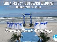 Win a $1000 Beach Wedding