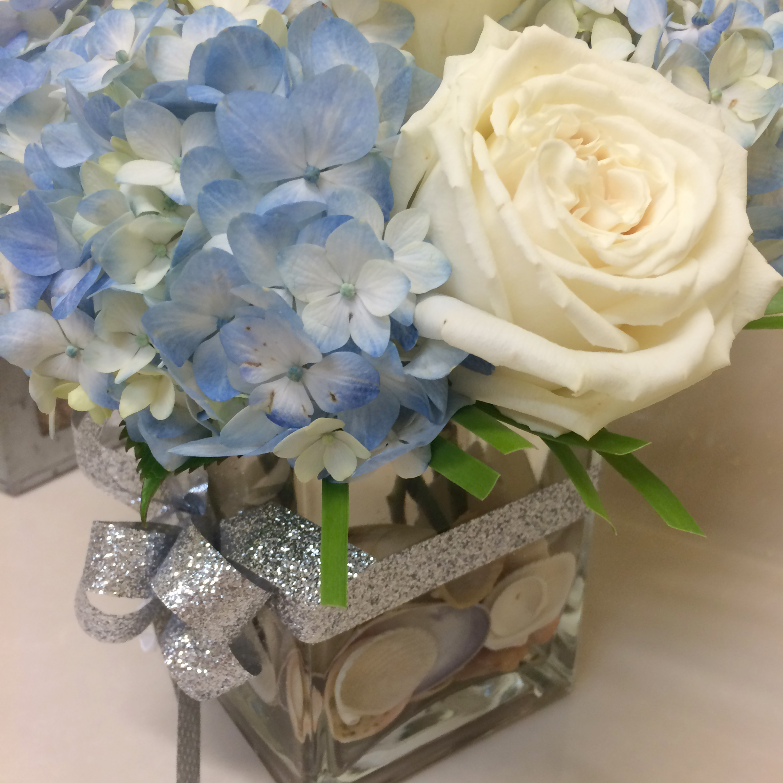 Centerpieces \u2013 Square Vase \u2013 Flowers & Centerpieces - Square Vase - Flowers   Beach and Destination Wedding ...